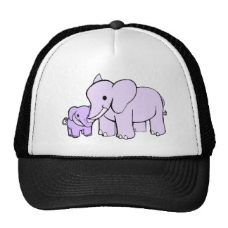 Elephant Mother and Trucker Hat