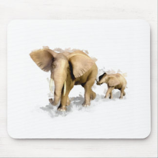 Elephant Mother & Child 1 Mouse Pad