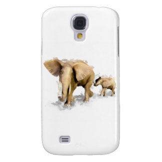 Elephant Mother & Child 1 Samsung S4 Case