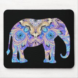 Elephant Mousepad Blue and Purple