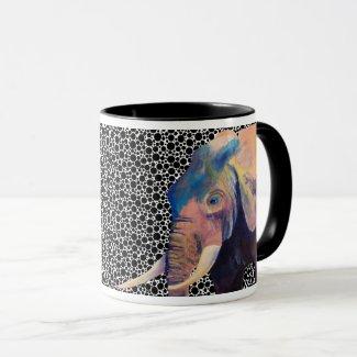 Elephant Mug, based on an original painting Mug