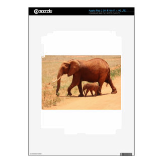Elephant Mummy and Cub Decal For iPad 3