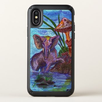 Elephant Mushroom Magical Animals Speck iPhone X Case
