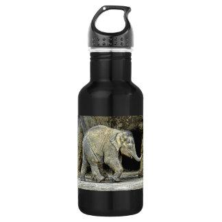 Elephant Newborn Calf Stainless Steel Water Bottle
