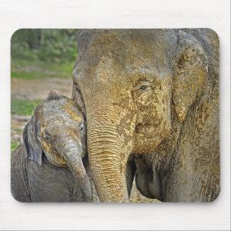 Elephant Newborn Hug Mousepad