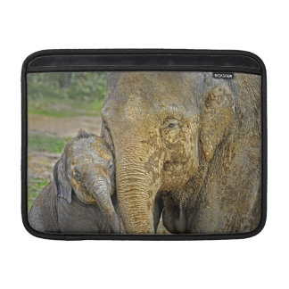 Elephant Newborn Mom Baby Hug MacBook Sleeve