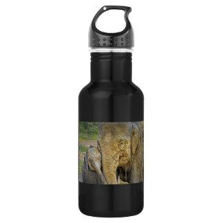 Elephant Newborn Mom Baby Hug Stainless Steel Water Bottle
