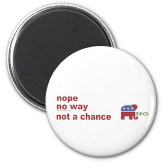 Elephant no way not a chance magnet