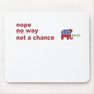Elephant no way not a chance mouse pad