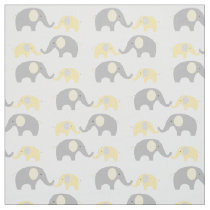 Elephant Nursery Fabric Yellow & Grey