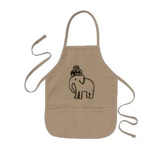 Elephant of circus 001 kids' apron