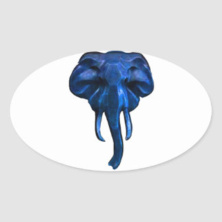 Elephant of courage oval sticker