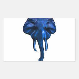 Elephant of courage rectangular sticker