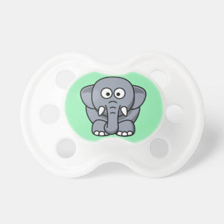 Elephant on a Mint Green Background Pacifier