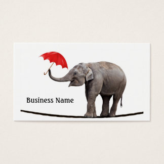 Elephant on a tightrope business card