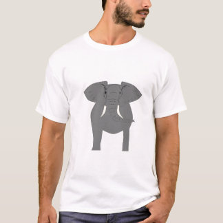 Elephant on front and back of tshirt