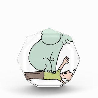 Elephant on Man Chest Asthma Award
