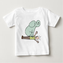 Elephant on Man Chest Asthma Baby T-Shirt