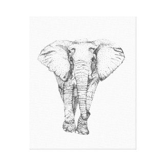 Elephant on Point Canvas Print