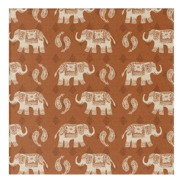 Art Themed Elephant Orange Caravan Pattern Acrylic Wall Art