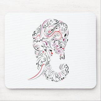 elephant ornate mouse pad