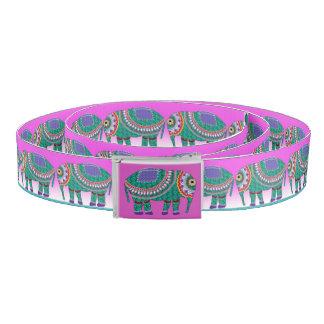 Elephant Ornate Personalize Monogram Belt