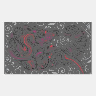 elephant ornate rectangular sticker