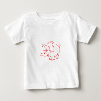Elephant Outline Baby T-Shirt