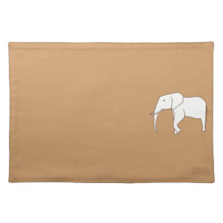 Elephant Outline Drawing Coloring Placemats