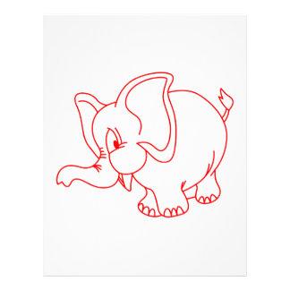 Elephant Outline Letterhead