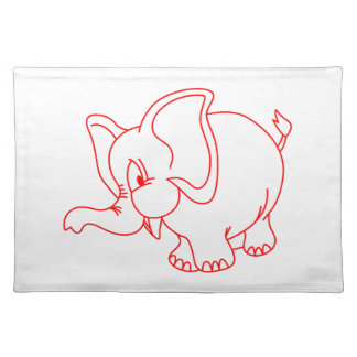 Elephant Outline Placemat