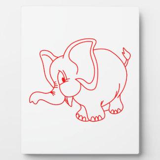 Elephant Outline Plaque