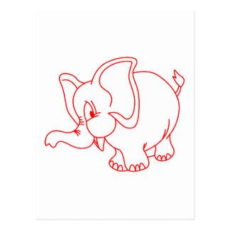 Elephant Outline Postcard