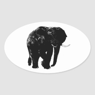 Elephant Oval Sticker