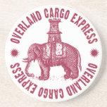 Elephant Overland Cargo Express Beverage Coaster
