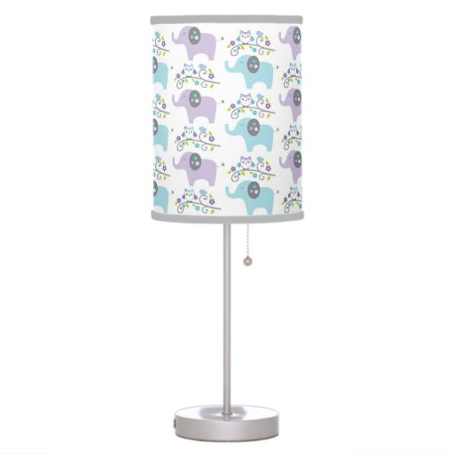 elephant owl nursery lamp zazzle. Black Bedroom Furniture Sets. Home Design Ideas