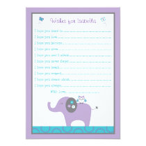 Elephant Owl Wishes for Baby Cards