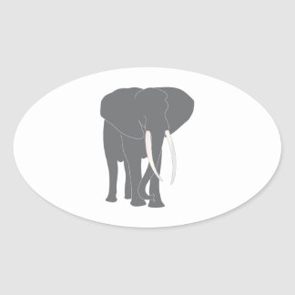 Elephant Pachyderm Elephantidae Mammals Animals Oval Sticker