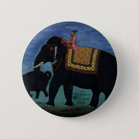 Elephant Painting Button