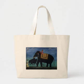 Elephant Painting Canvas Bags