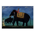 Elephant Painting Post Card