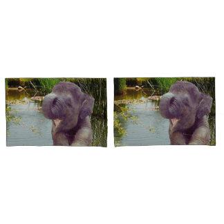 Elephant Pair of Pillowcases, Standard Size Pillowcase