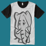 Elephant Panel T-Shirt