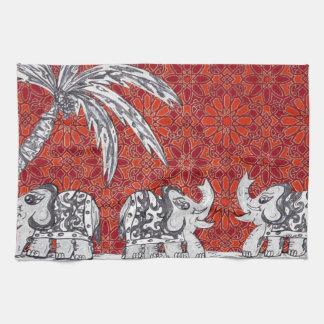 Elephant Parade 3 Hand Towel