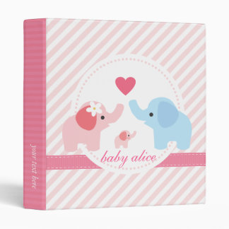 Elephant Parents and Baby Binder