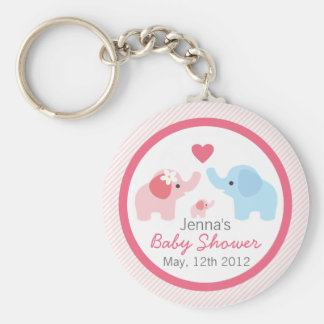 Elephant Parents and Baby Shower Keychain