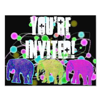 Elephant Party Card