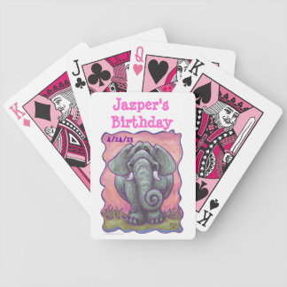 Elephant Party Center Bicycle Playing Cards