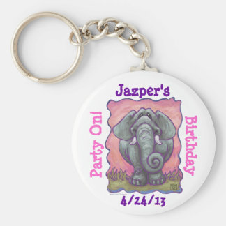 Elephant Party Center Key Chains