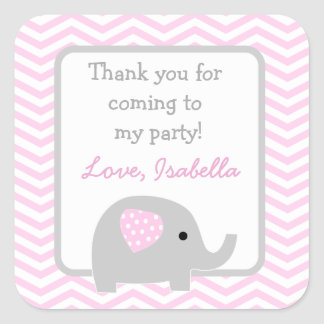 Elephant party favor stickers